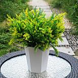 cheap -1 Branch Plastic PU Plants Tabletop Flower Artificial Flowers