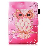cheap -Case For Apple iPad mini 4 iPad Mini 3/2/1 with Stand Flip Pattern Auto Sleep/Wake Up Full Body Cases Owl Hard PU Leather for iPad Mini 4