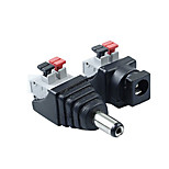 ZDM 1Pair 2.1 x 5.5mm DC Power MaleFemale Plug Jack Adapter Connector Plug for LED Strip Light