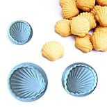 cheap -3Pcs/Set Special Shell Shape Fondant Cake Decorating Sugar Craft Plunger Cutter Cake Mold