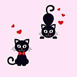Недорогие -Животные Романтика Мультипликация Наклейки Простые наклейки Декоративные наклейки на стены Наклейки для выключателя света, Винил