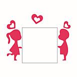 Недорогие -Люди Романтика Мультипликация Наклейки Простые наклейки Декоративные наклейки на стены Наклейки для выключателя света, Винил Украшение