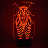 Christmas Cicada Touch Dimming 3D LED Night Light 7Colorful Decoration Atmosphere Lamp Novelty Lighting Christmas Light