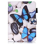 cheap -Case For Apple iPad mini 4 iPad Mini 3/2/1 with Stand Flip Pattern Auto Sleep/Wake Up Full Body Cases Butterfly Hard PU Leather for iPad