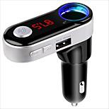 Sans fil bluetooth mains libres kit de voiture voiture lecteur mp3 fm émetteur double usb fm modulateur a2dp usb chargeur pour iphone
