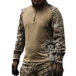 Муж. Длинный рукав Футболка для охоты Тактический Классика Верхняя часть для Охота Спорт в свободное время Камуфляжный M L XL XXL
