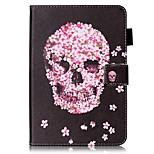 cheap -Case For Apple iPad mini 4 iPad Mini 3/2/1 with Stand Flip Pattern Auto Sleep/Wake Up Full Body Cases Skull Hard PU Leather for iPad Mini