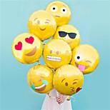 Недорогие -8 шт / комплект смайликов воздушный шар 18 дюймов воздушный шар фольги пузырь воздушные шары украшения горячей партия дома