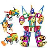 Недорогие -Конструкторы Магнитный конструктор Обучающая игрушка Игрушки Автомобиль Робот Магнитный Девочки Мальчики 96 Куски
