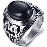 Муж. Массивные кольца Кольцо Мода Панк По заказу покупателя Хип-хоп Rock Euramerican Акрил Титановая сталь Круглой формы Бижутерия