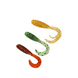 20 pcs Soft Bait Fishing Lures Soft Bait Orange White Yellow glass green Dark Green g/Ounce,38 mm/1-9/16