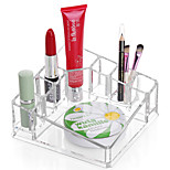Acrylic Square Makeup Storage Stand Brush Pot Cosmetic Organizer for Lipstick Nail Polish