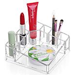 акриловый квадрат подставка для хранения подставка для щетки для ванны косметический органайзер для помады для ногтей