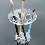 акриловый прозрачный портативный макияж хранения дисплей стенд макияж кисти дисплей горшок держатель косметический органайзер