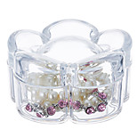 Flower Shaped Makeup Jewelry Storage Box Cosmetic Organizer Jewelry Display Box with Lid