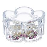цветок формы макияж ювелирные изделия ящик для хранения косметический органайзер ювелирные изделия дисплей с крышкой
