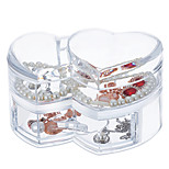 Large Capacity Loving Heart Makeup Jewelry Storage Cosmetic Organizer Display Box Drawer