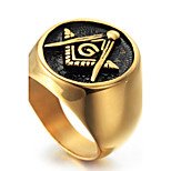 Men's Knight Ring Statement Rings Euramerican Fashion Punk Hip-Hop Personalized Rock Titanium Steel Geometric Red Black Gold Jewelry For Party