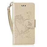 cheap -Case For Huawei P8 Lite (2017) Honor 8 Card Holder Wallet with Stand Flip Pattern Full Body Heart Hard PU Leather for P8 Lite (2017)