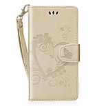 Недорогие -Кейс для Назначение Huawei P8 Lite (2017) Honor 8 Бумажник для карт Кошелек со стендом Флип С узором Чехол С сердцем Твердый Кожа PU для