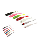 3 pcs Soft Bait Fishing Lures Soft Bait Shad Green Pink White Red Dark Green luminous/Fluorescent g/Ounce mm/4-1/4