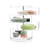4 Layer Rotatable Cylinder Large Capacity Makeup Jewelry Storage Cosmetic Organizer Jewelry Display Box