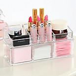 сложный комбинированный большой емкости 2 слоя макияж кисти горшок хранения подставка косметический блок организатор 2pc набор