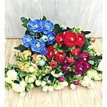 Недорогие -1 Филиал Полиэстер Пластик Камелия Букеты на стол Искусственные Цветы