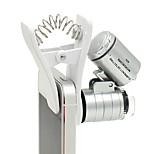 Недорогие -60-кратный зум-драйв клип-тип лупа микроскоп ювелирные лупы ювелирные лупы лупа микро объектив для универсальных мобильных телефонов