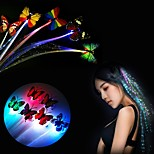 1PCS Pcs Colorful Luminous Flash Hair Braid Hanging Butterfly LED Flash Hair Clips Hairpin Holiday Party Decoration Club Bar Supply Ramdon Color