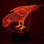 cheap -1pc 3D Nightlight Touch 7-Color USB Powered with USB Port