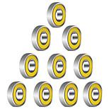 608r 21mm x 7mm rodamientos de bolas radiales blindados de metal rodamientos de bolas profundos de ranura para juguete spinner fidget ---