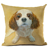 cheap -1 pcs Linen Pillow Case, Dog Modern/Contemporary