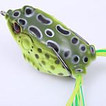 1PC soft tube bait japan plastic fishing lures frog lure treble hooks Topwater ray frog 5.5CM 14G artificial soft bait