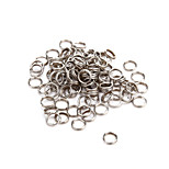 100pcs 6mm Stainless Steel Fishing Split Rings Fishing Gear Accessories Swivel Lure Connector Tackle Barrel Hard Bait Carp