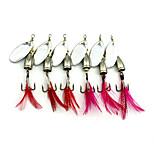 5 pcs Metal Bait Hard Bait Buzzbait & Spinnerbait Spoons Random Colors g/Ounce mm/2-3/4