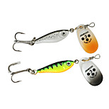 4pcs New Spinner Bait Metal Spoon Lure 15g Artificial Bait Fishing Lure Longcast Metal Lure Fishing Tackle