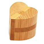 cheap -Building Blocks Wooden Puzzles IQ Brain Teaser Kong Ming Lock Heart IQ Test Classic Boys' Toy Gift