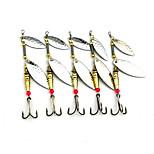 5 pcs Spinner Baits Spoons Metal Bait Random Colors g/Ounce mm inch,Metal Freshwater Fishing Bass Fishing Lure Fishing