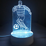cheap -3D Acrylic Athelte Playing Football LED Lamp Desk Night Lights for Kids Room Decorative Lamps Remote Control Stars Ball Lights Lamps for Family