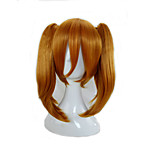 Synthetic Hair 2 Removeable Ponytail  Medium Length Orange  Cosplay Wigs