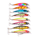 HiUmi Hot Sell 8pcs 3D Minnow Fishing Lures 6# Hook Fishing Bait 8.2cm 7.3g Swimbait