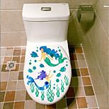 Недорогие -Животные Мода ботанический Наклейки Простые наклейки Декоративные наклейки на стены Наклейки для туалета, пластик Украшение дома Наклейка