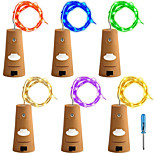 6 Pack 12M(2M*6)120LED with Screwdriver A Bottle Lights Fairy String Lights Warm White White Red Yellow Blue Green Purple Pink Multi Color