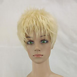 Synthetic High Temperature Fiber Woman Blonde Short Curly Pixie Hair Wig