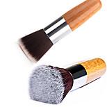 1 stücke weichen bambus griff flache nagel kunst pflege maniküre pediküre sauber entfernen staub pinsel werkzeug