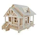 cheap -3D Puzzles Jigsaw Puzzle Wood Model Model Building Kit Famous buildings Furniture House Architecture 3D Simulation DIY Wood Classic Unisex