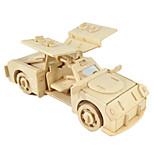 Недорогие -Игрушечные машинки 3D пазлы Пазлы Деревянные игрушки Летательный аппарат Автомобиль Лошадь 3D Своими руками Дерево Классика Мальчики
