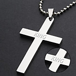 cheap -Jewelry mixed batch Bible cross minimalist personality Titanium Stainless Steel Cross Pendant Necklace