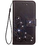 cheap -Case For Asus Asus Zenfone 4 ZE554KL Zenfone 4 Selfie ZD552KL Rhinestone Flip Embossed Full Body Cases Mandala Butterfly Hard PU Leather